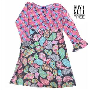 Flap Happy Pink Multicolored Peace Dress NEW 8